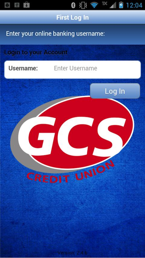 GCS Credit Union MobileBanking- screenshot
