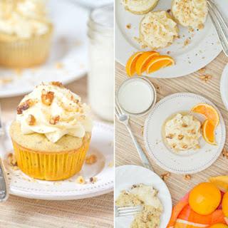 White Spice Walnut Orange Cupcakes