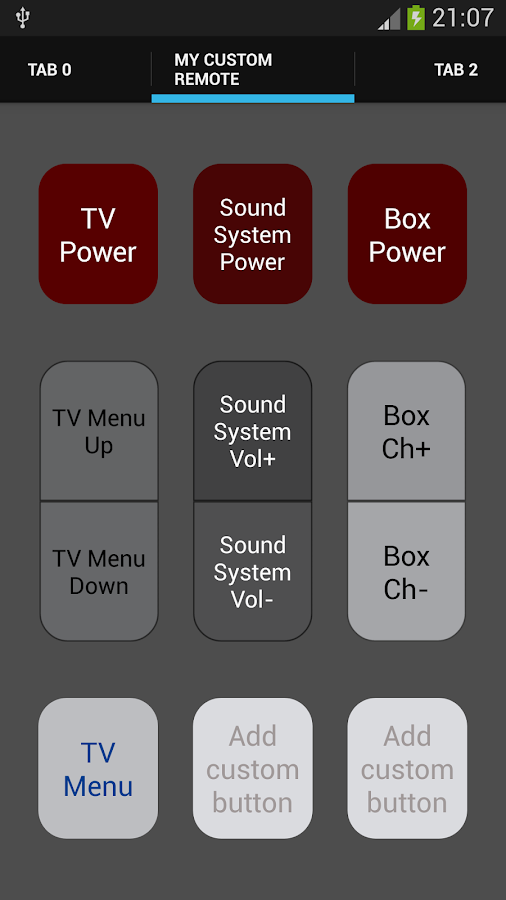 Galaxy S4 Universal Remote - screenshot