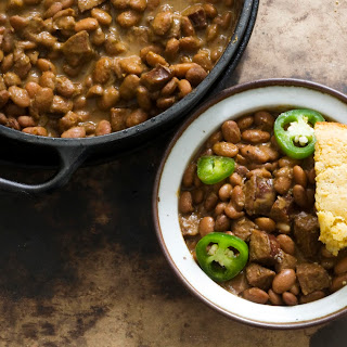 Peppery Pinto Beans With Sausage.