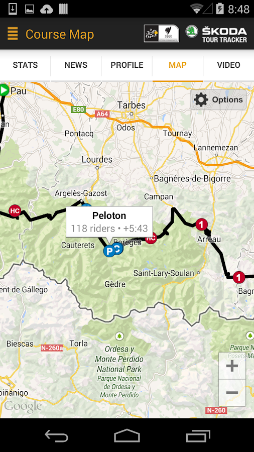 Tour de France Tour Tracker - screenshot