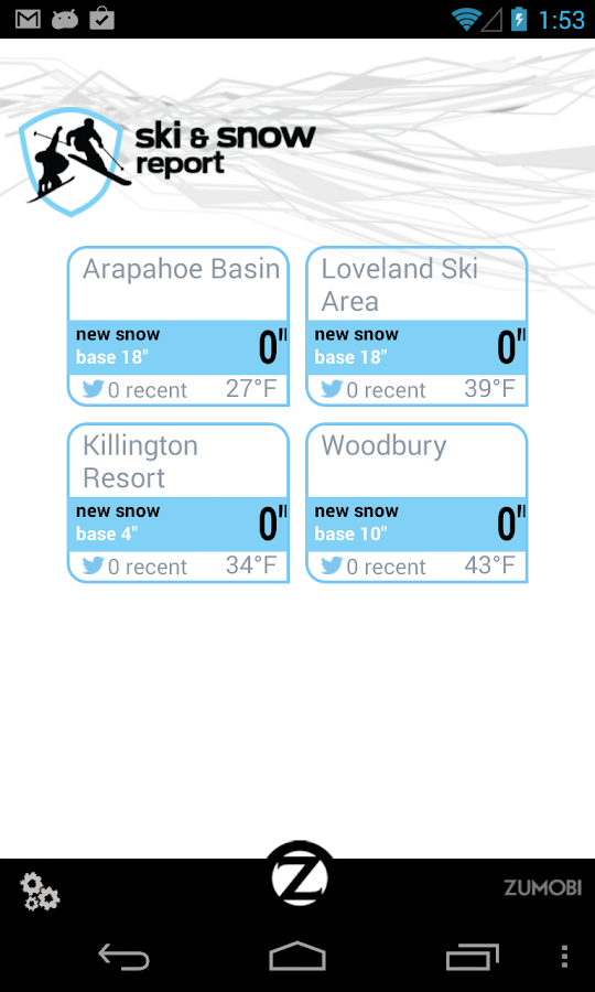 Ski and Snow Report- screenshot
