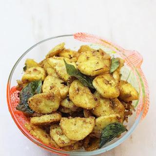 Raw Banana Fry Recipe, How To Make Spicy Raw Banana Fry