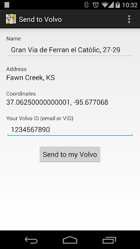 Send to Volvo