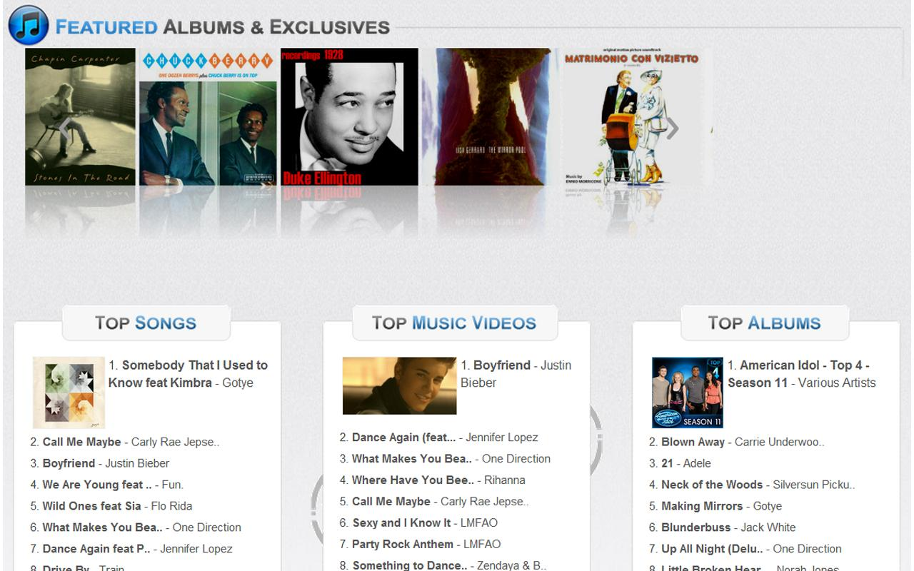 Music Hits of iTunes n Amazon - screenshot