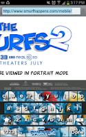 Screenshot of The Smurfs 2 Keyboard