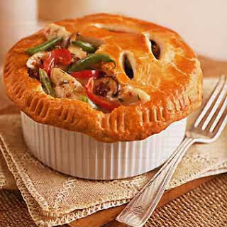 Chicken and Vegetable Pot Pies with Cream Cheese Crust.