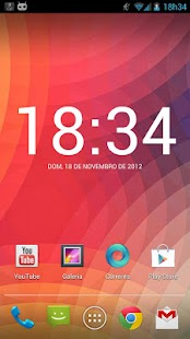 Roboto Clock Widget - screenshot thumbnail