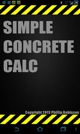 Simple Concrete Calculator