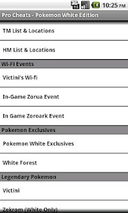 Pro Cheats Pokemon White Edn. - screenshot thumbnail