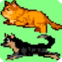 Cat and Dog Run on Status bar logo