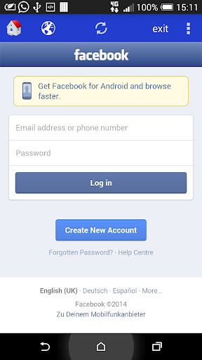 Fast Facebook and Browser