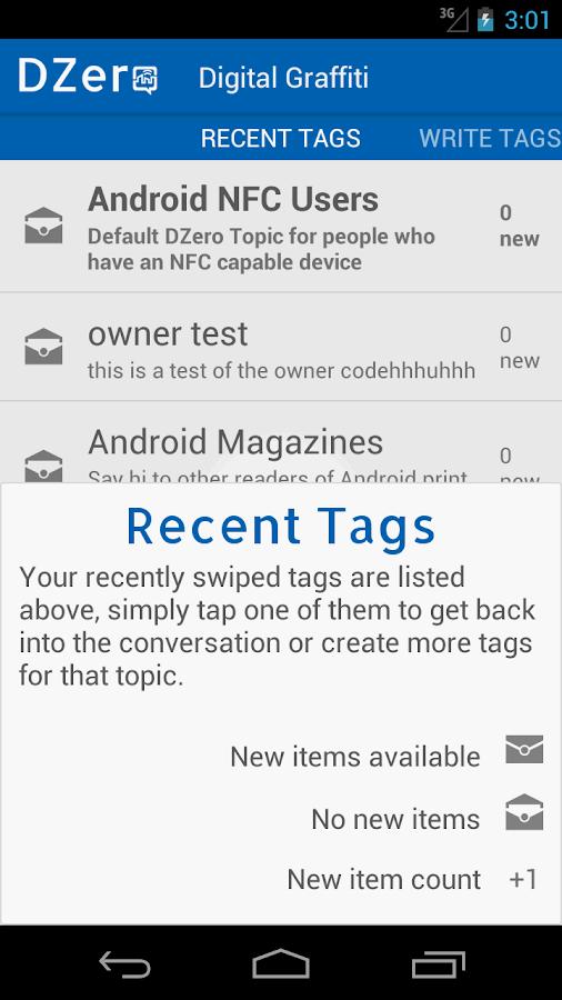 DZero - NFC Conversations - screenshot