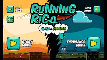 Screenshot of Running Rico: Alien vs Zombies