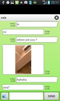 Screenshot of chatroid (random chat)