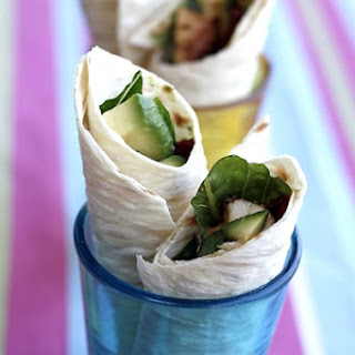 Marinated Chicken Wraps.