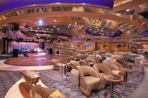 Enchant-of-the-Seas-Carousel-Lounge - Have a cocktail, meet new friends, dance and listen to live music at Carousel Lounge on Enchantment of the Seas.