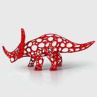 セルラーワイヤーフレームでできたスチラコサウルス