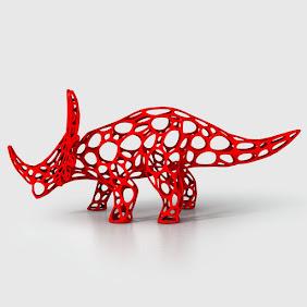 Styracosaurus Cellular Wireframe