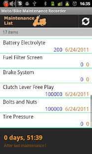 Moto/Bike Maintenance Record - screenshot thumbnail