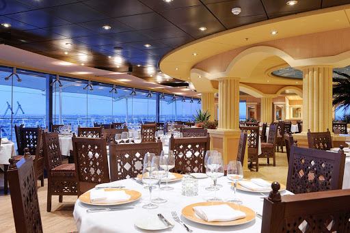 MSC-Magnifica-L'Oasi-Restaurant - MSC Magnifica's L'Oasi Restaurant offers panoramic views of the passing landscapes and signature dishes designed by two-star Michelin chef Mauro Uliassi.