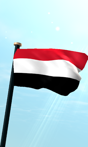 也门旗3D动态壁纸