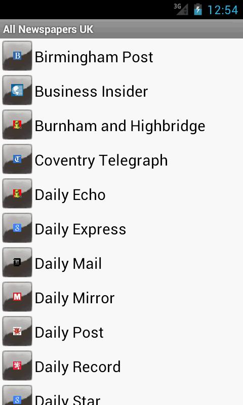 All Newspapers UK - screenshot