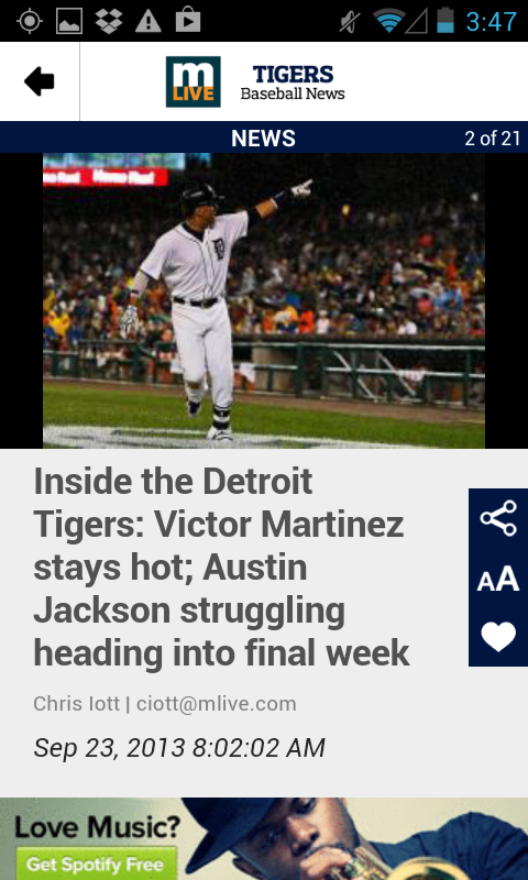 MLive.com: Detroit Tigers News - screenshot