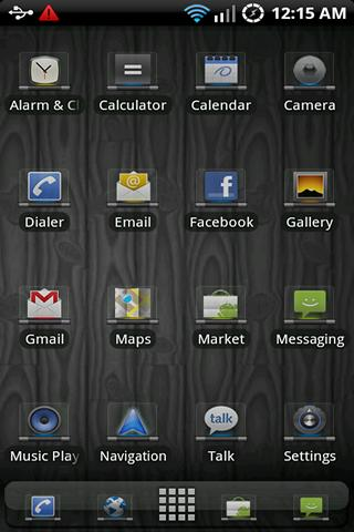 Glass Sense ADW Theme - screenshot