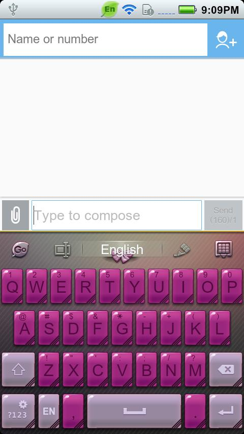 GO Keyboard Ladies theme - screenshot