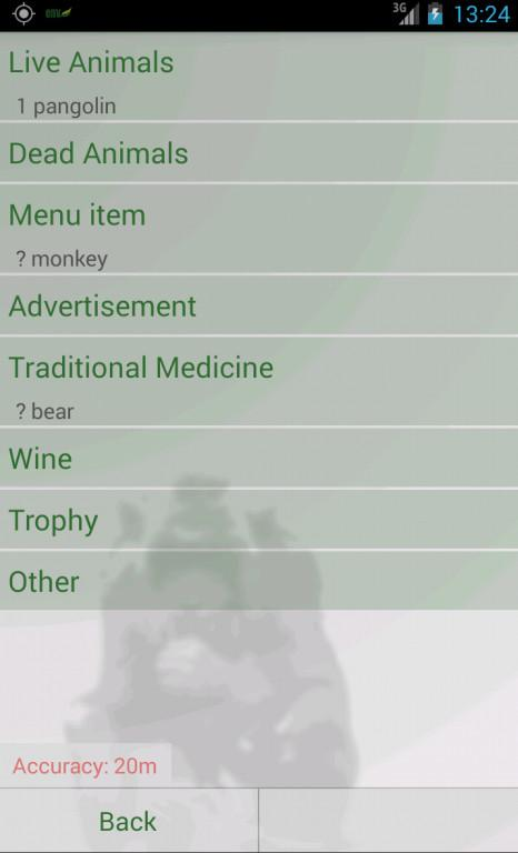 ENV - Report Wildlife Crime- screenshot