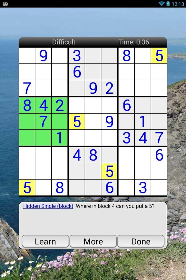Enjoy Sudoku - screenshot