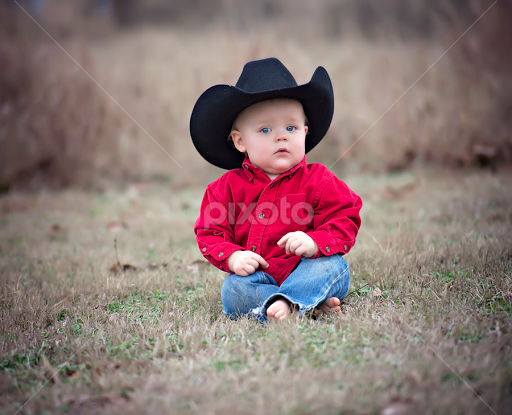 Lil One by Carole Brown - Babies   Children Child Portraits ( cowboy hat c7b946db182