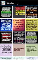 Screenshot of Kata Lucu Bahasa Sunda