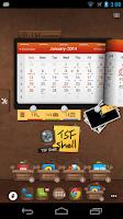 Screenshot of TSF Calendar Widget