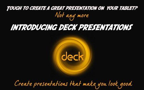 deck Presentations