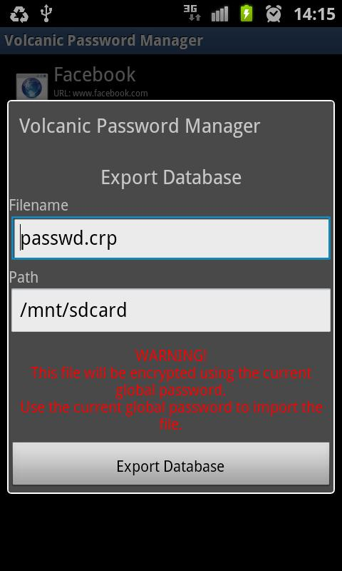 Volcanic Password Manager - screenshot