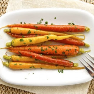 Ginger Orange Braised and Glazed Carrots