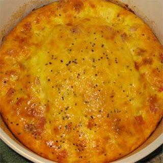 Ham and Cheese Omelet Casserole.
