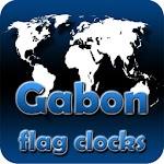Gabon flag clocks