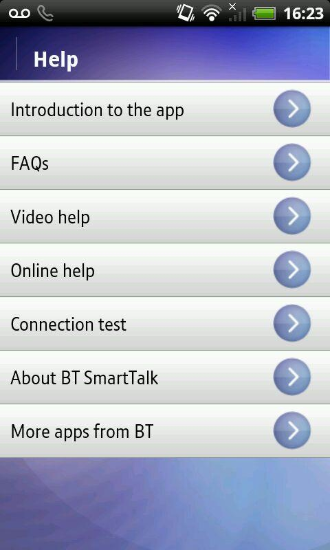 BT SmartTalk - screenshot