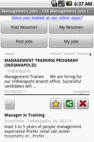 Management Jobs - screenshot