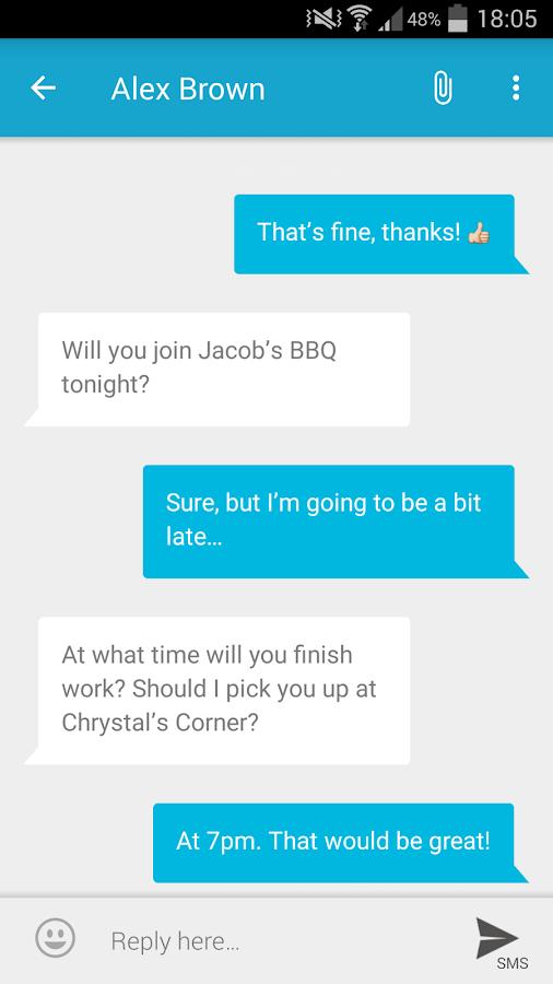 mysms SMS Text Messaging Sync - screenshot