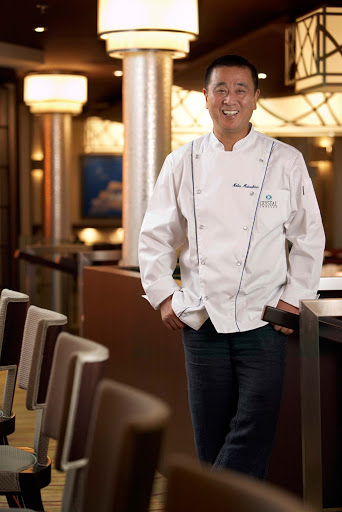 Culinary-Experiences-Master-Chef-Nobu-Matsuhisa-on-Crystal-Symphony - Master chef Nobu Mastuhisa ensures that dishes served on the Crystal Symphony meet his standard of excellence.