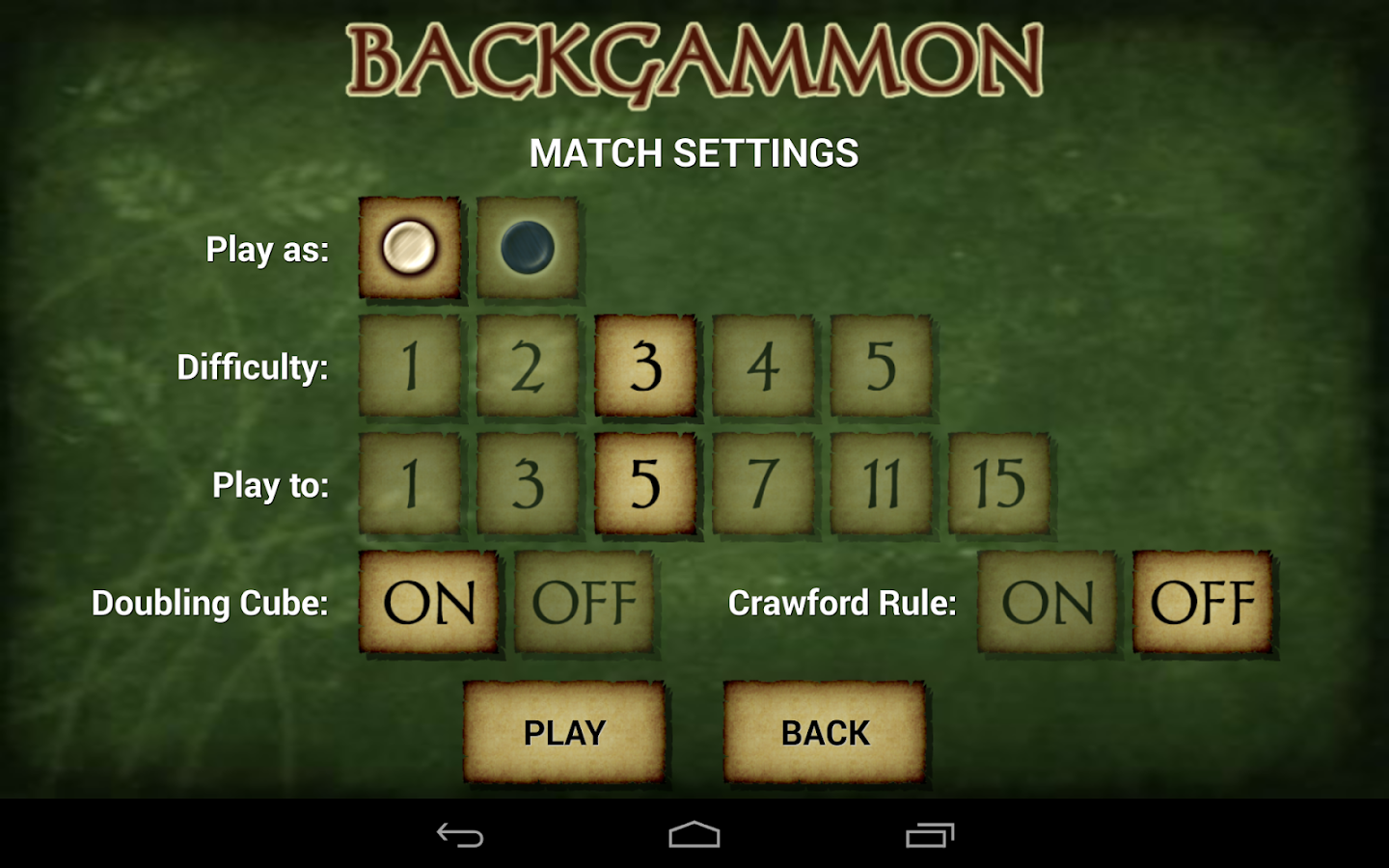 Backgammon Free - screenshot