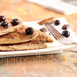 Blueberry And Chocolate Pancakes