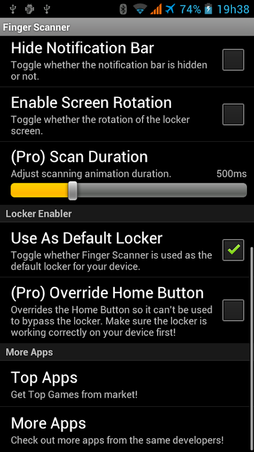 Fake Finger Scanner - screenshot
