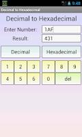 Screenshot of Decimal to Hexadecimal