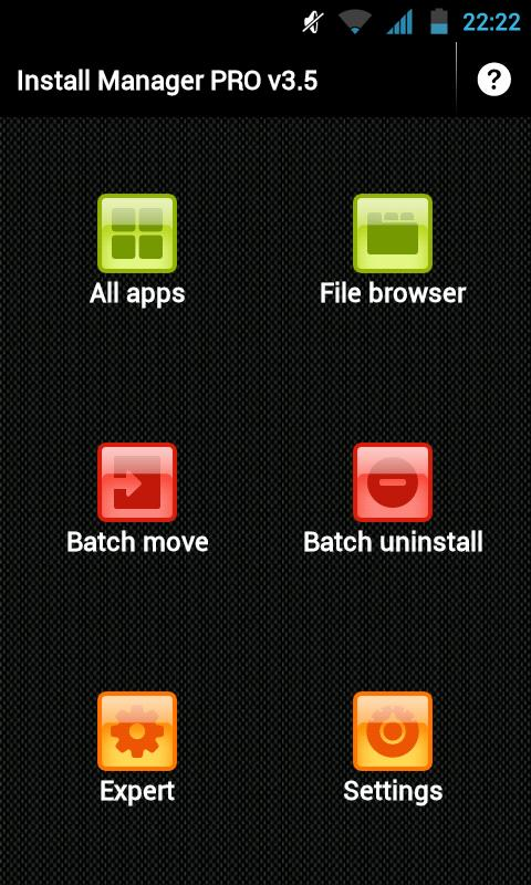 Install Manager v3.5 (App2SD) - screenshot