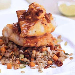 Panfried Red Snapper with Chipotle Butter.